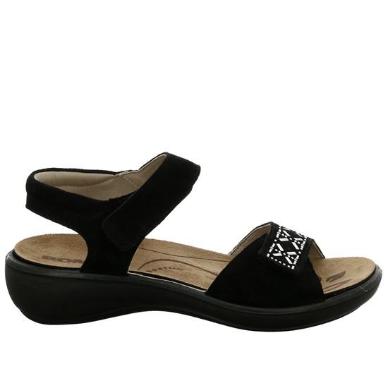 Serraje Black 100 Velcro 27 Sandalias Romika 98 Ibiza 16098 Mujer RAqc354LSj