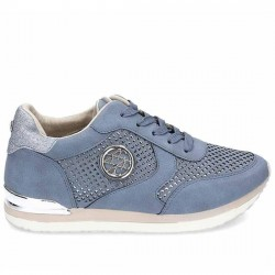 ACLYS SNEAKER PICADO PLATAFORMA MUJER CUÑA INTERNA A119-01-01 JEANS ACLY007