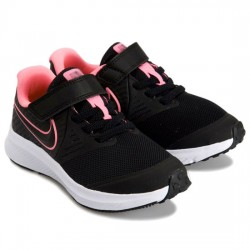 NIKE STAR RUNNER 2 PSV DEPORTIVO RUNING NIÑA AT1801 002 BLACK/SUNSET PULSE-BLACK-WHITE NIKE111