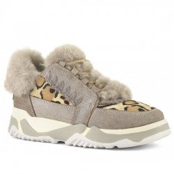 MOU DEPORTIVO ESKIMO LACE UP TRAINER SHOE DUST CAMEL MOU052